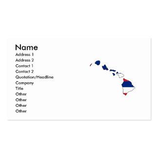 Mapa de la bandera de Hawaii Plantillas De Tarjetas De Visita