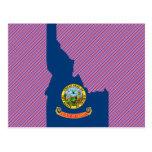 Mapa de la bandera de Idaho Tarjeta Postal