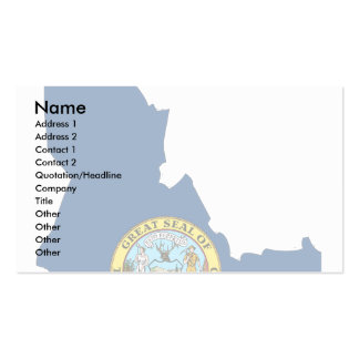 Mapa de la bandera de Idaho Tarjetas De Visita