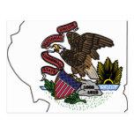 Mapa de la bandera de Illinois Postales