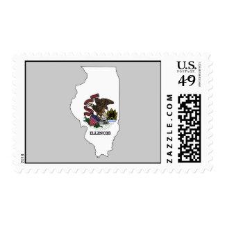 Mapa de la bandera de Illinois Sello