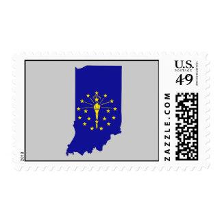 Mapa de la bandera de Indiana Franqueo