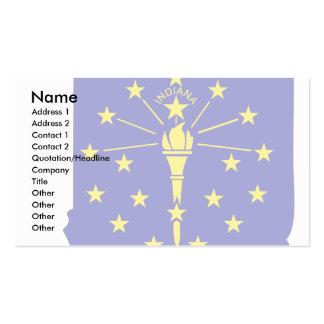 Mapa de la bandera de Indiana Tarjetas De Visita