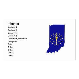 Mapa de la bandera de Indiana Plantillas De Tarjetas De Visita