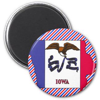 Mapa de la bandera de Iowa Imanes