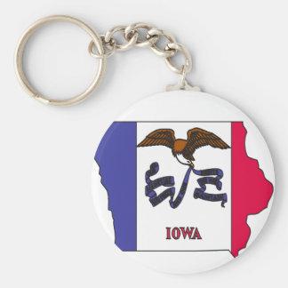 Mapa de la bandera de Iowa Llavero Personalizado