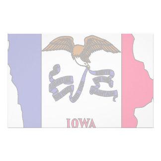 Mapa de la bandera de Iowa Papeleria De Diseño