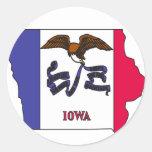 Mapa de la bandera de Iowa Pegatinas