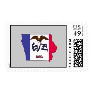 Mapa de la bandera de Iowa Sello