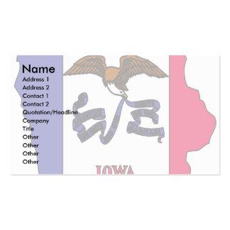 Mapa de la bandera de Iowa Plantillas De Tarjetas De Visita