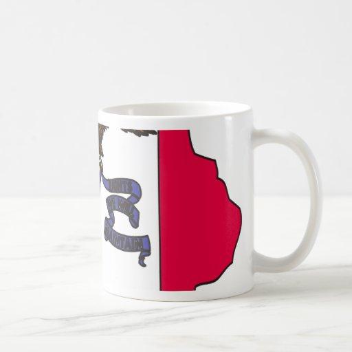 Mapa de la bandera de Iowa Tazas