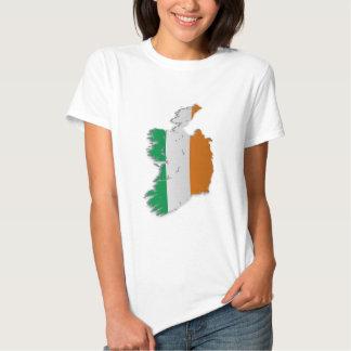 Mapa de la bandera de Irlanda Camisas
