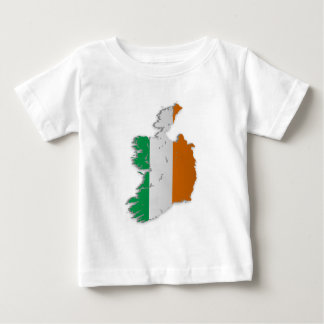 Mapa de la bandera de Irlanda Playera De Bebé