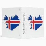 Mapa de la bandera de Islandia del mismo tamaño