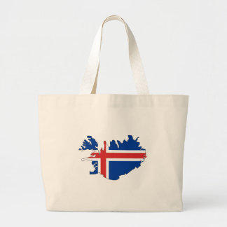Mapa de la bandera de Islandia del mismo tamaño Bolsa
