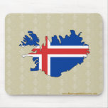 Mapa de la bandera de Islandia del mismo tamaño Alfombrillas De Raton