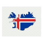 Mapa de la bandera de Islandia del mismo tamaño Postales
