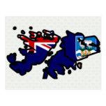 Mapa de la bandera de Islas Malvinas del mismo tam Tarjetas Postales