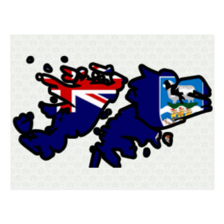 Mapa de la bandera de Islas Malvinas del mismo Tarjetas Postales