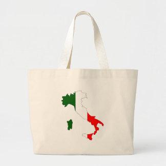 Mapa de la bandera de Italia Bolsa Tela Grande