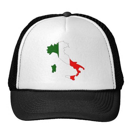 Mapa de la bandera de Italia del mismo tamaño Gorras