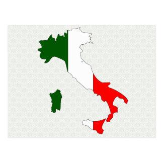 Mapa de la bandera de Italia del mismo tamaño Tarjetas Postales