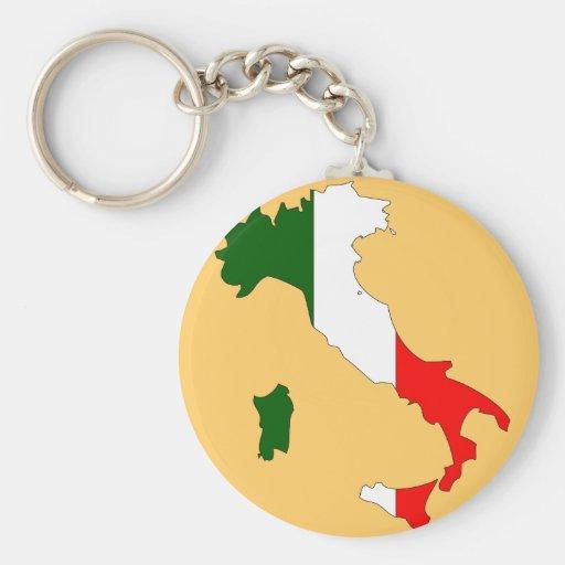 Mapa de la bandera de Italia Llaveros