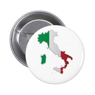 Mapa de la bandera de Italia Pins