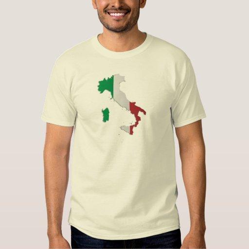 Mapa de la bandera de Italia Playeras