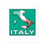 Mapa de la bandera de Italia Postal