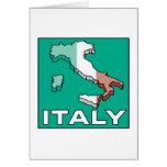 Mapa de la bandera de Italia Tarjeta