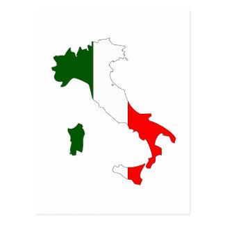 Mapa de la bandera de Italia Tarjeta Postal