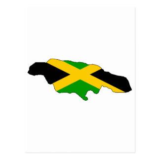 Mapa de la bandera de Jamaica Postal