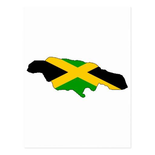 Mapa de la bandera de Jamaica Tarjetas Postales