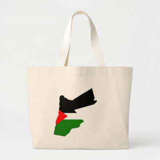 Mapa de la bandera de Jordania del mismo tamaño Bolsa