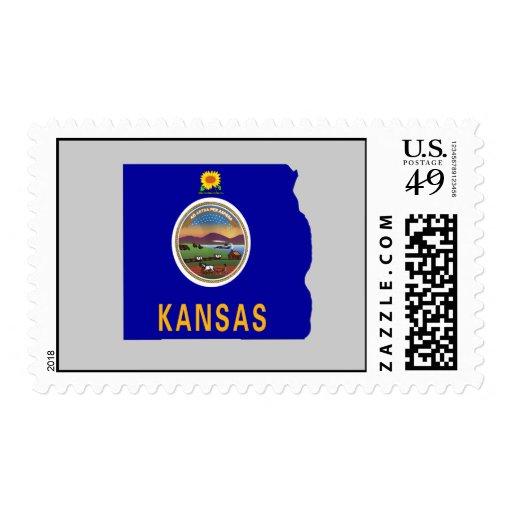 Mapa de la bandera de Kansas Sello