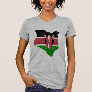 Mapa de la bandera de Kenia Camiseta