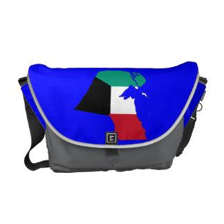 Mapa de la bandera de Kuwait Bolsas Messenger