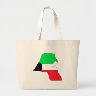 Mapa de la bandera de Kuwait del mismo tamaño Bolsa Tela Grande