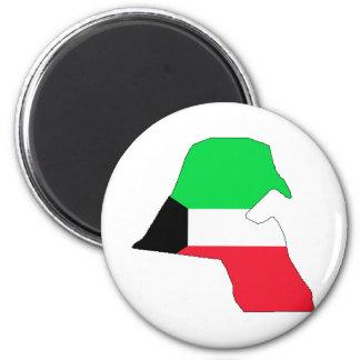 Mapa de la bandera de Kuwait del mismo tamaño Imán Redondo 5 Cm