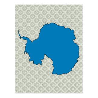 Mapa de la bandera de la Antártida del mismo tamañ Postal