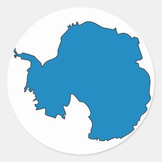 Mapa de la bandera de la Antártida Pegatina Redonda