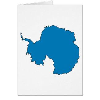 Mapa de la bandera de la Antártida Felicitación