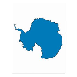 Mapa de la bandera de la Antártida Tarjeta Postal