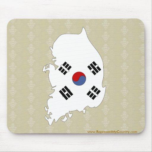 Mapa de la bandera de la Corea del Sur del mismo t Alfombrilla De Ratón