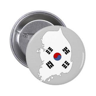 Mapa de la bandera de la Corea del Sur Pin