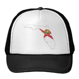 Mapa de la bandera de la Florida Gorros Bordados