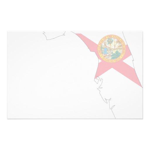Mapa de la bandera de la Florida Papeleria