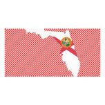 Mapa de la bandera de la Florida Tarjetas Fotograficas