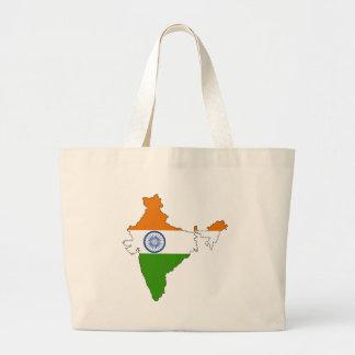 Mapa de la bandera de la India Bolsa Lienzo